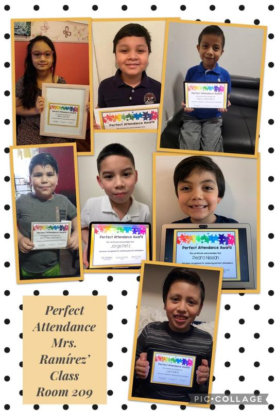 Room 209 Perfect Attendance collage