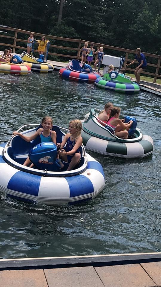 Bumper Boats at Roundtop Adventures