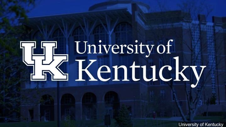 THE UNIVERSITY OF KENTUCKY VIRTUAL PRESENTATION SET FOR NOV. 3RD Featured Photo