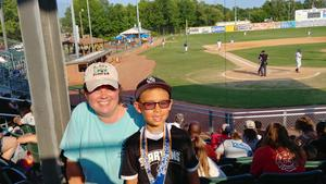 Pilot fans at the HiToms game.