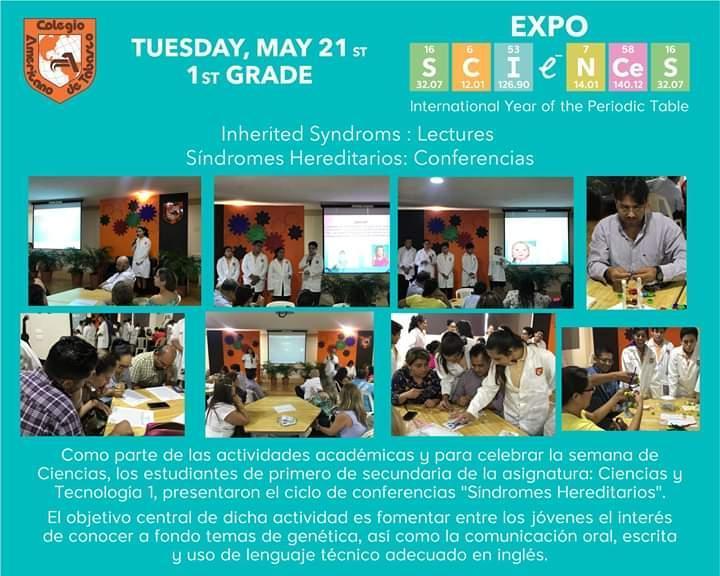 Expo Sciences 1° de secundaria Featured Photo