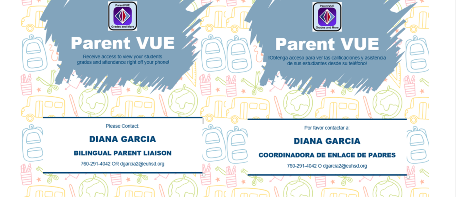ParentVue Access Help from Bilinual Parent Liaison