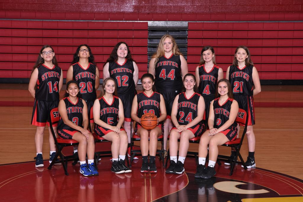 Girls 2019-2020 Junior Varsity Basketball Team