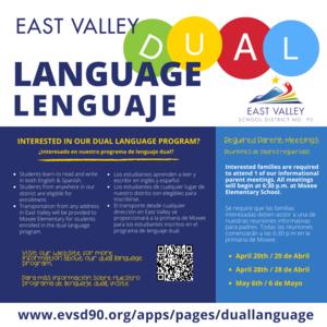 Dual Language Program Registration Information