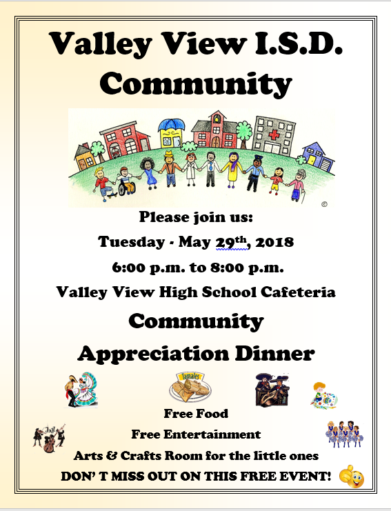Valley View ISD Community Appreciation Dinner Thumbnail Image