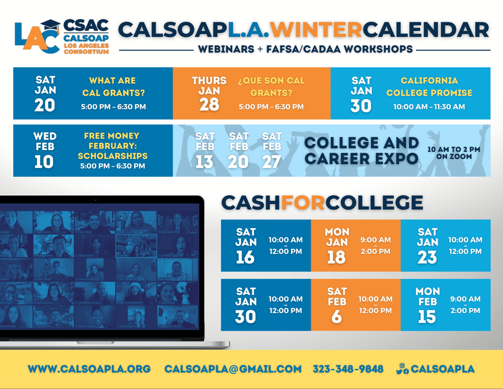 College & Career Expo Schedule