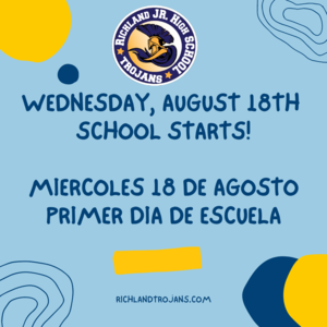 1st Day of School Announcement