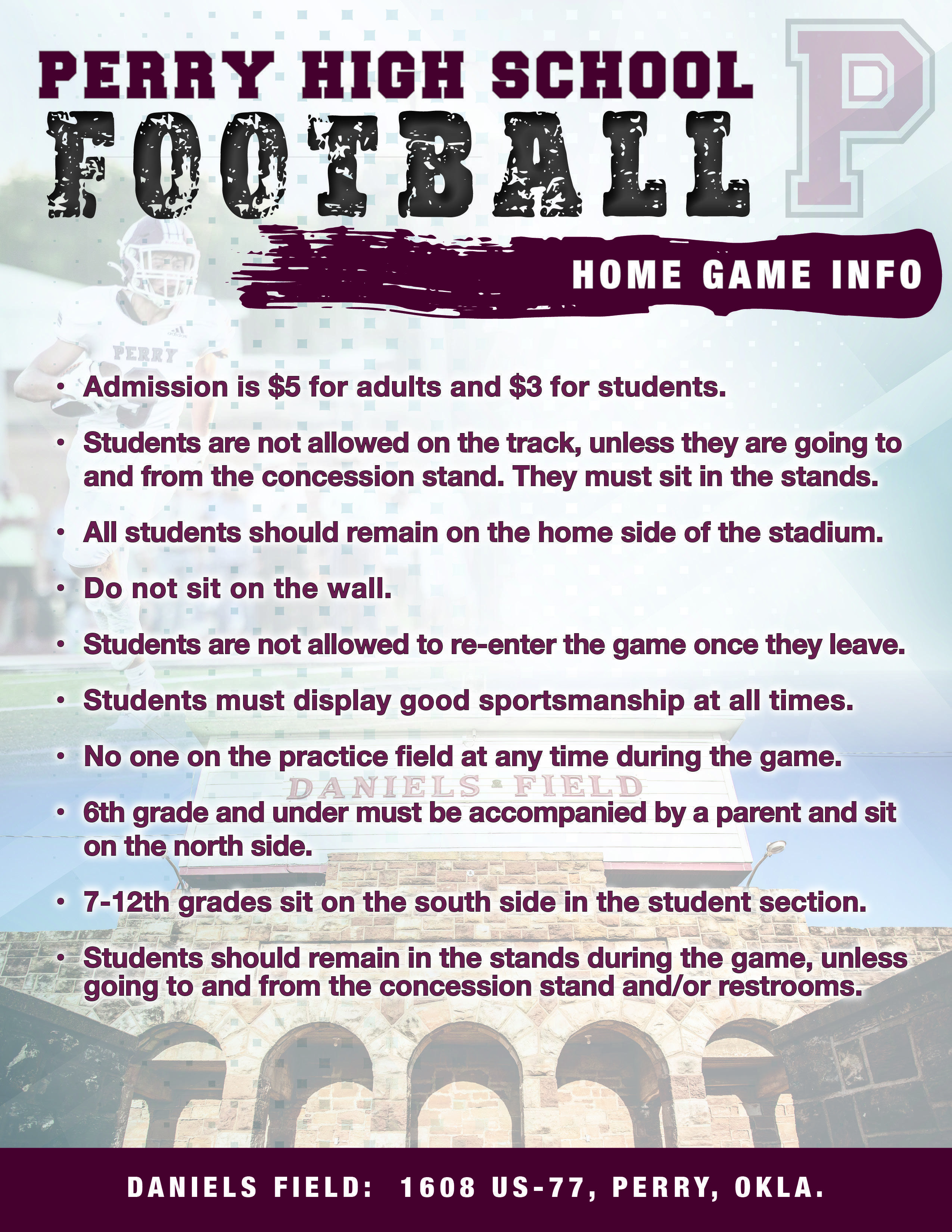 home game information