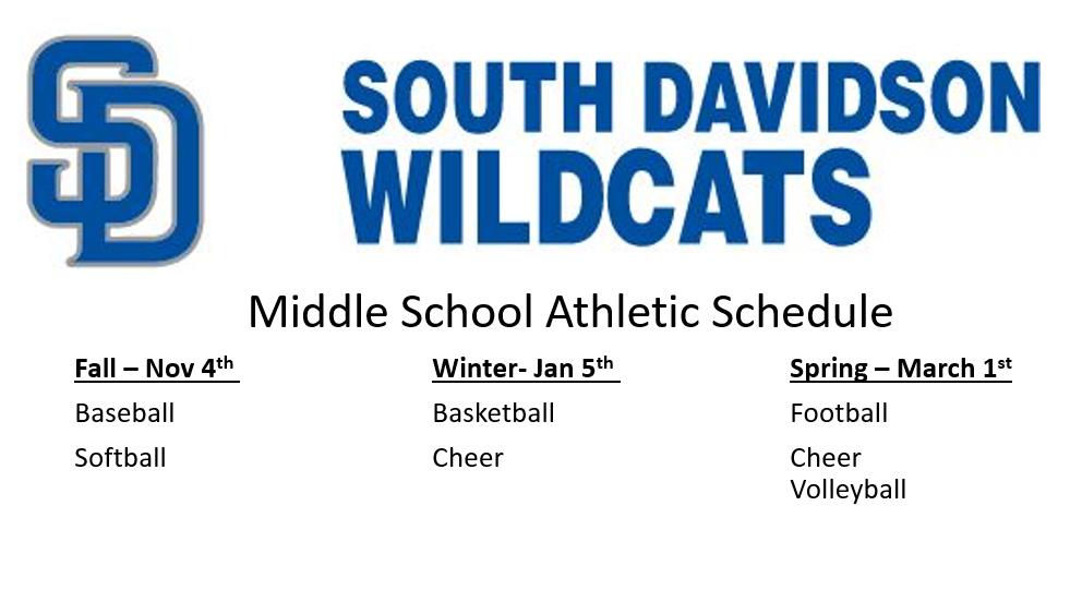 SDMS Athletics Start Dates