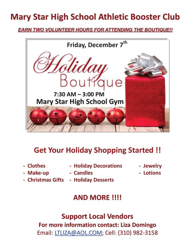 MSHS Holiday Boutique! Featured Photo