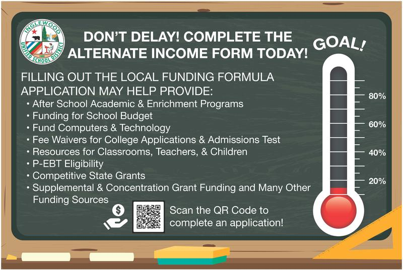 IUSD Parents Complete the Alternate Income Form Now! Featured Photo
