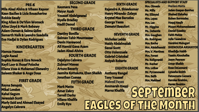 September Eagles of the Month Featured Photo
