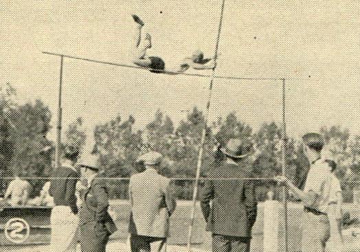 Pole vault in the Jefferson Meet, 1932