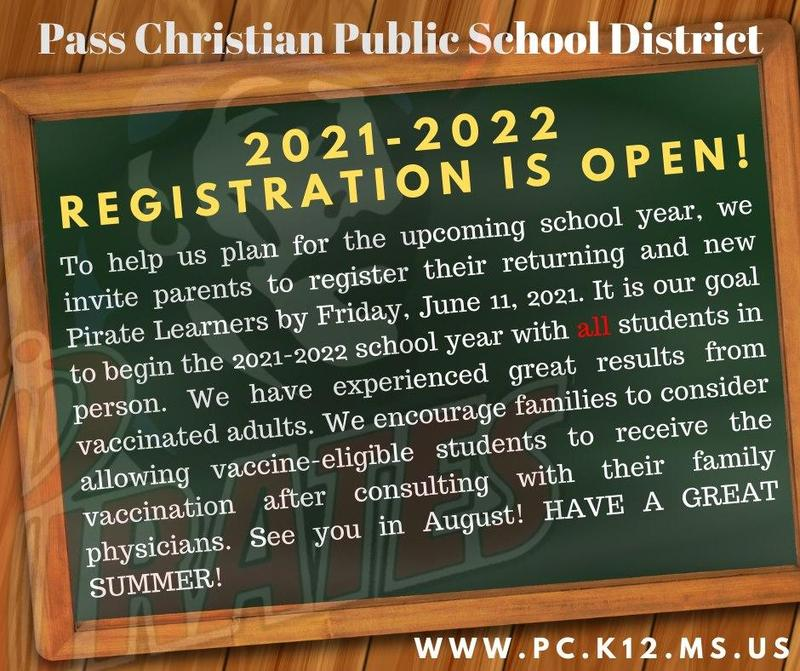 Registration for the 2021-2022 school year is now open. Featured Photo