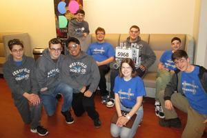 Photo of the Westfield High School Robotics Team, who recently competed in the semifinals of the FIRST Tech Challenge New Jersey Competition.