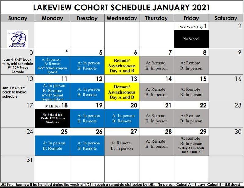 January Cohort Schedule