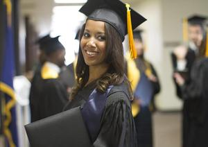 senior cap and gown