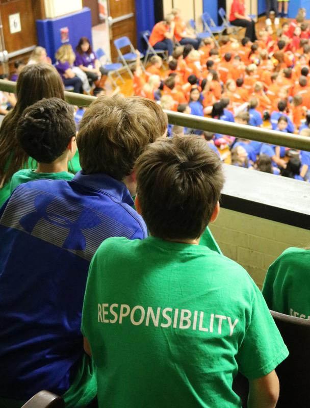 Franklin School previewed the week with a colorful assembly focusing on the Six Pillars of Character and
