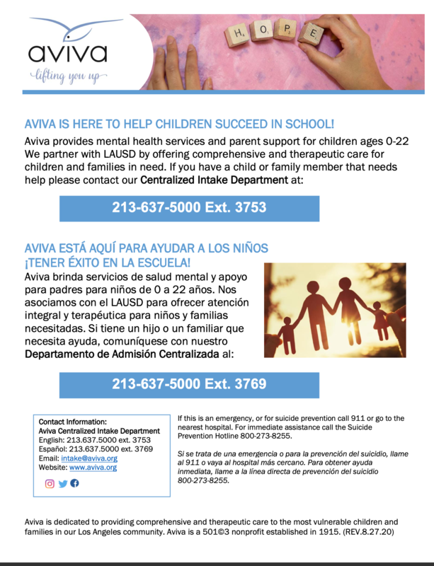 Aviva Family and Children's Services (Servicios para niños y familias de Aviva) Featured Photo
