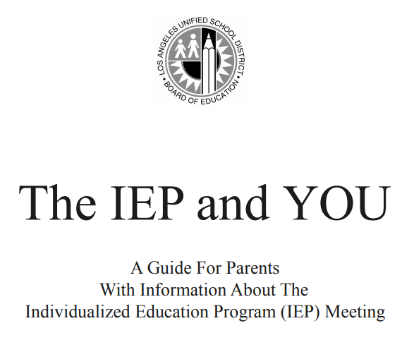 IEP and You