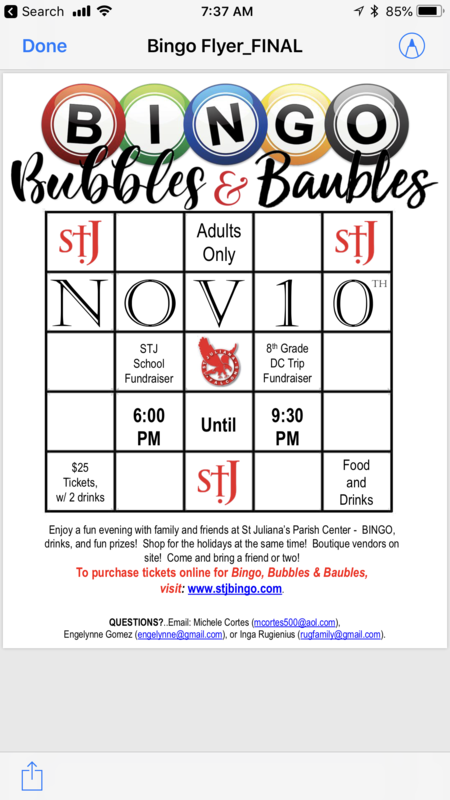 Bingo, Bubbles & Baubles Fundraiser Featured Photo