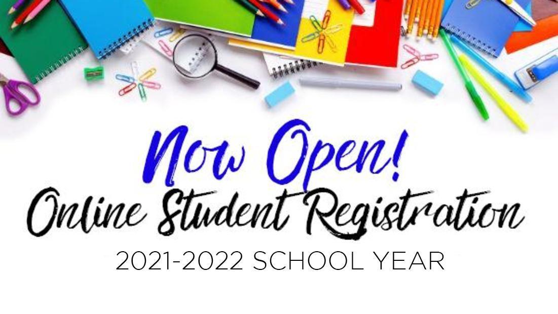 Graphic promoting Online Student Enrollment