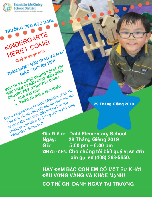 TK/Kinder Open House Flyer - Vietnamese version