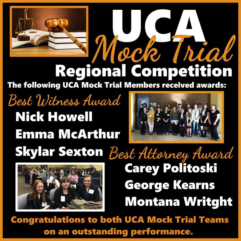 UCA Mock Trial Team in Regional Competition Featured Photo