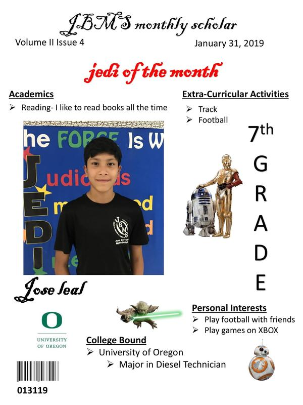 JBMS Student's of The Month Featured Photo