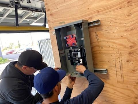 Electrician Students Hands-On Wiring Practice