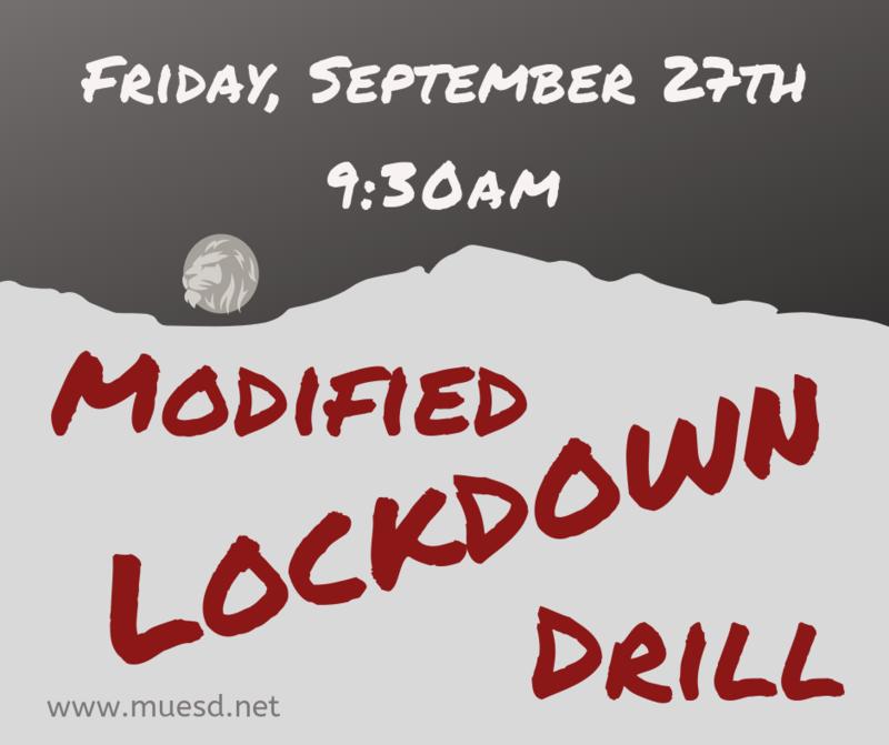 Modified Lockdown/Evacuation Drill on Friday, 9/27 Thumbnail Image