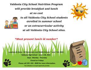 VCS Summer Meal Program