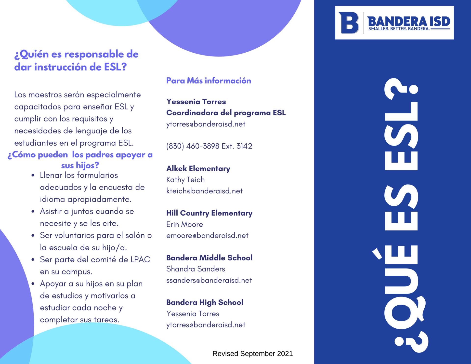 ESL Brochure