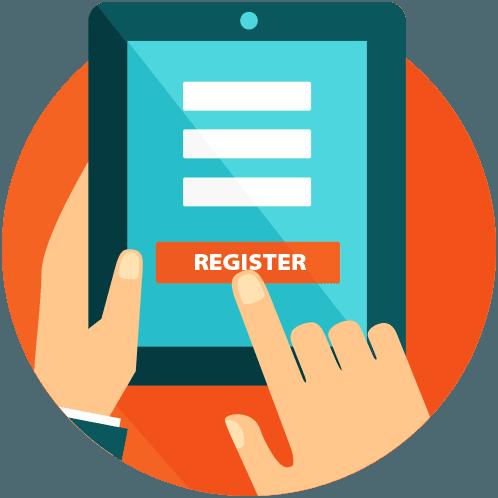 E-registration symbol