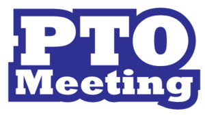 PTO Meeting in blue and white