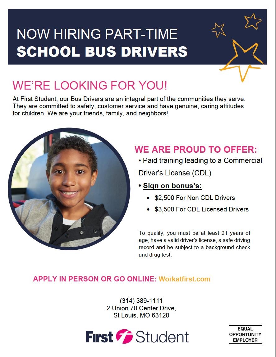 school bus drivers stl confluence academies