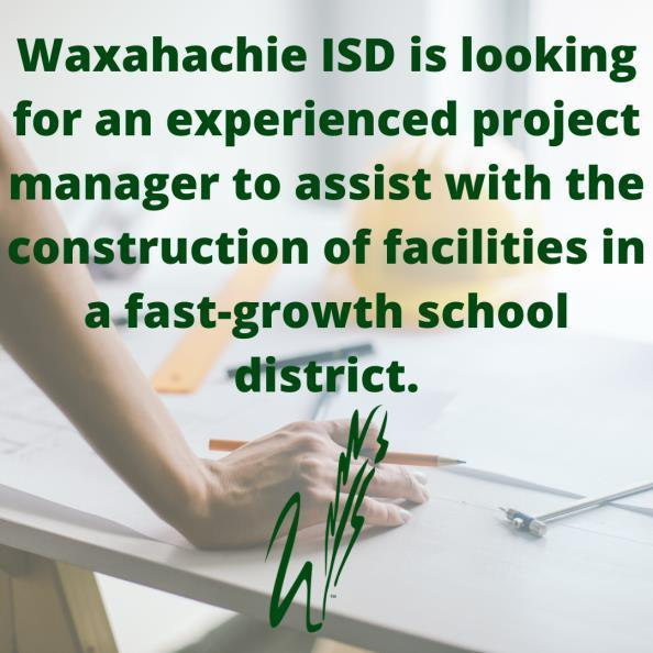 graphic describes WISD seeking project manager
