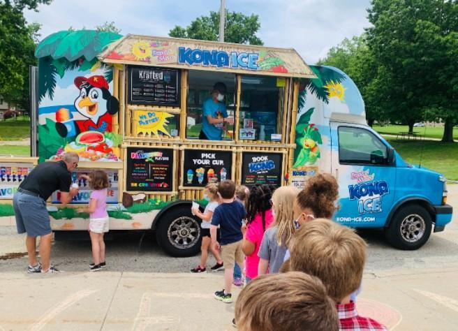 kona Ice visited Nicely today