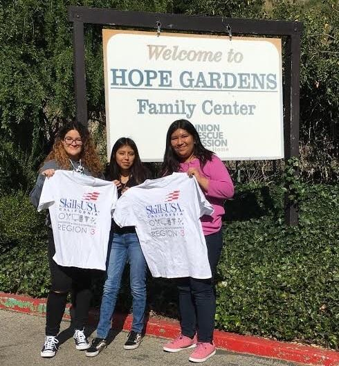 SkillsUSA Students Assist Hope Gardens Family Center Featured Photo