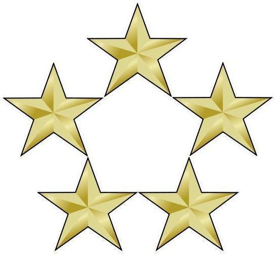 5 stars arranged in a circle