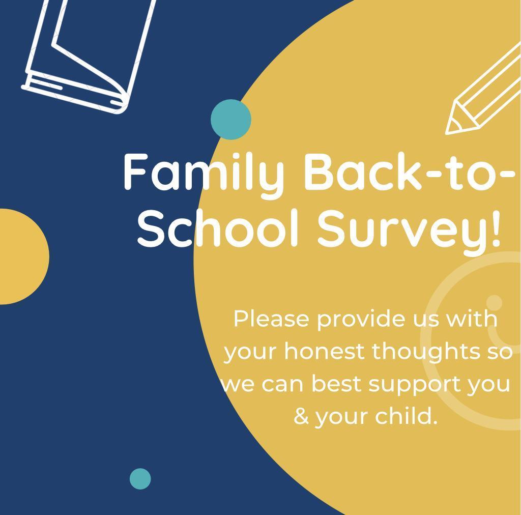 Family Back-to-School Survey