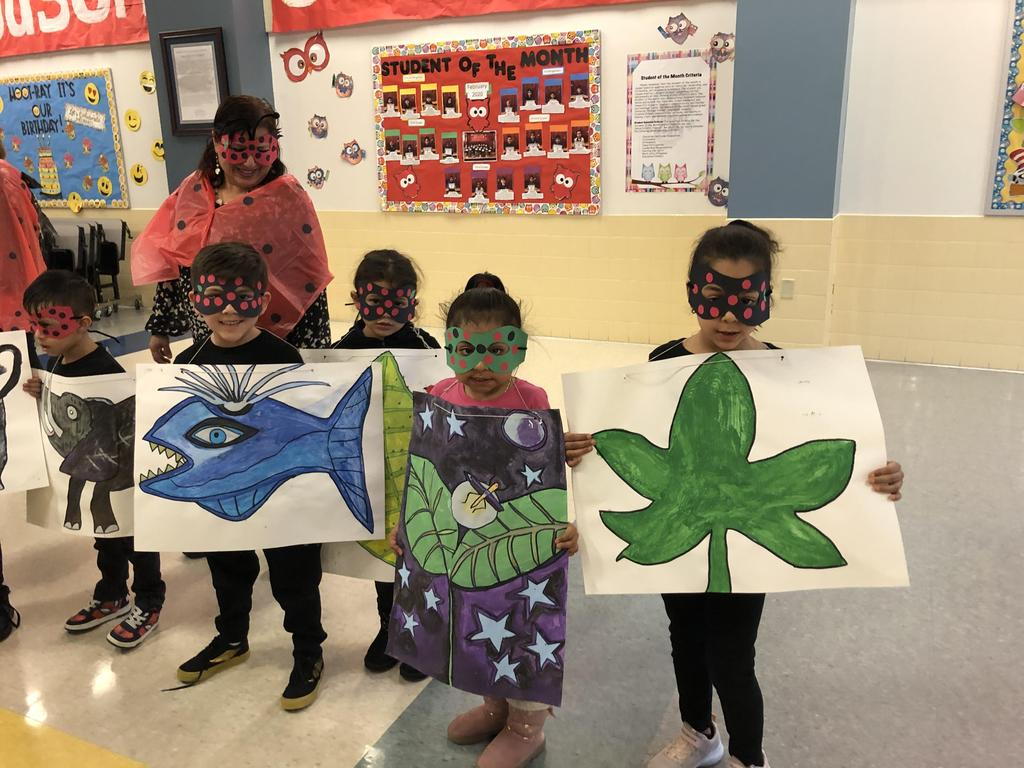 grouchy lady bug group of students