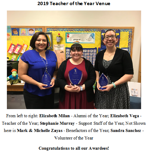 2019 Teacher of the Year Awards Featured Photo