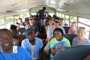 Teja Brown Haiti trip help bus