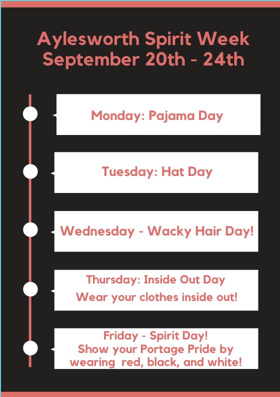 Spirit Week Sept 20-24