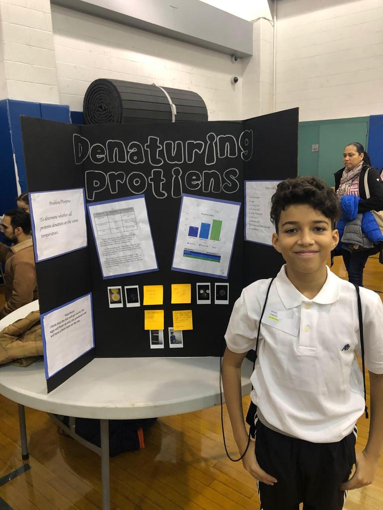 Edison student hansel research on denaturing proteins
