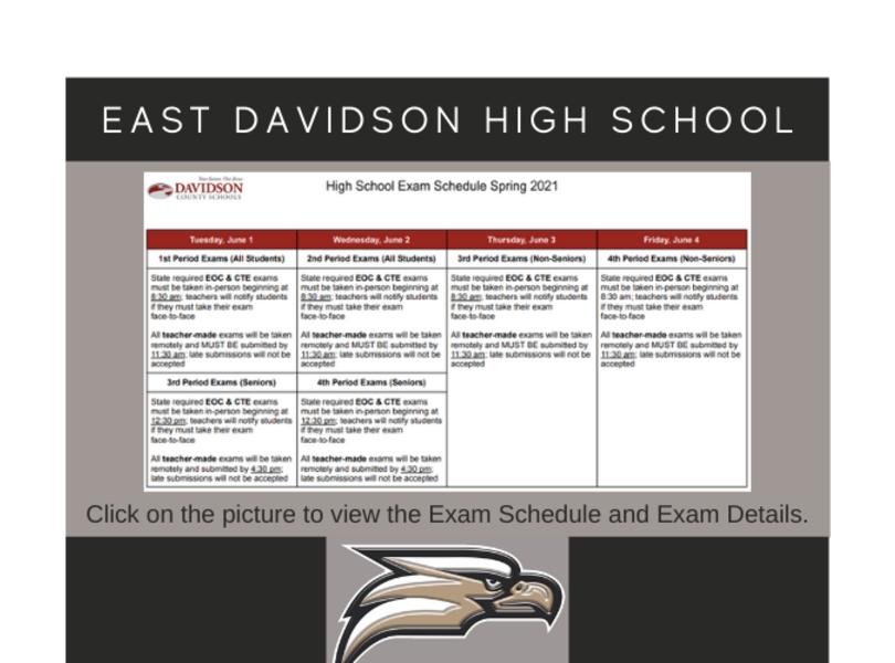 2021 Spring Exam Schedule
