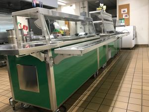 East Cheatham Elementary School cafeteria serving line