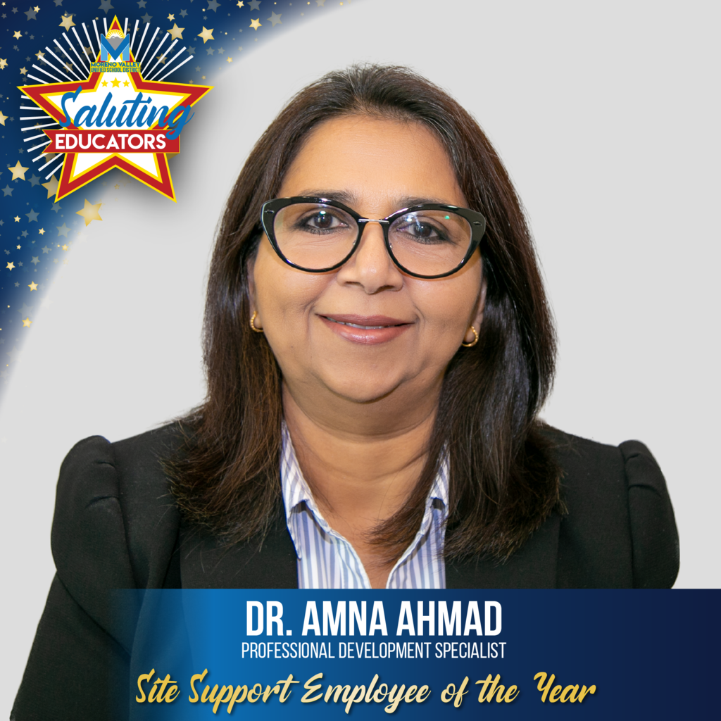 Dr. Amna Ahmad is the Site Support Employee of the Year