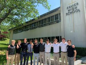 Xavier High School SAC and class officers for the 2021-22 school year.